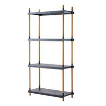 Frame Outdoor Tall Shelving System - Teak / Lava Grey