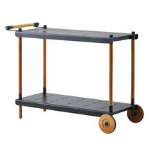 Frame trolley - Teak, Lava grey