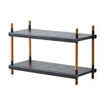 Frame Outdoor Low Shelving System - Low - Teak / Lava Grey