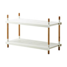 Frame Outdoor Low Shelving System - Low - Teak / White
