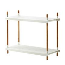 Frame Outdoor Low Shelving System - High - Teak / White