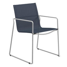 Asta White Stacking Armchair - Sapphire Sling