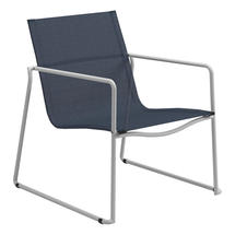 Asta White Stacking Lounge Chair - Sapphire