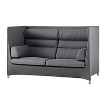 Diamond Highback Sofa with All Weather Sunbrella Cushions - Grey