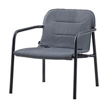 Kapa lounge chair, stackable - Grey