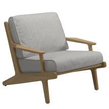 Bay Lounge Chair - Buffed Teak / Seagull