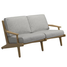 Bay 2 Seater Sofa - Buffed Teak / Seagull