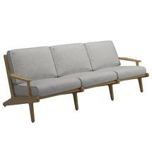 Bay 3 Seater Sofa - Buffed Teak / Seagull
