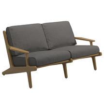 Bay 2 Seater Sofa - Buffed Teak / Granite