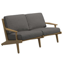 Bay 2 Seater Sofa - Buffed Teak
