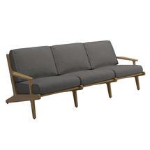 Bay 3 Seater Sofa - Buffed Teak / Granite