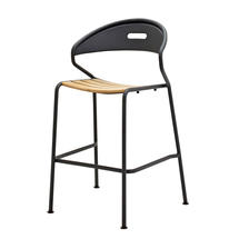 Curve Meteor Bar Stool - Buffed Teak Seat