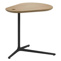 Trident Meteor Side Table - Natural Teak Top