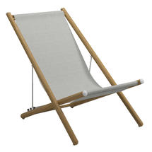 Voyager Buffed Teak Deck Chair - Seagull Sling