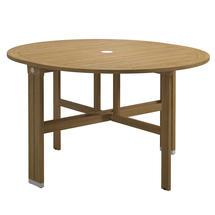 Voyager Round Gateleg Table - Buffed Teak / White