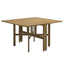 Voyager Rectangular Gateleg Table - Buffed Teak / White