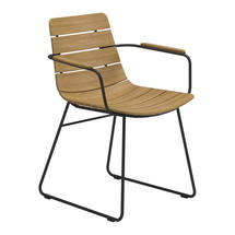 William Dining Chair with Arms - Buffed Teak / Meteor