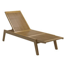 Solana Lounger - Buffed Teak