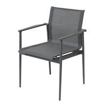 180 Stacking Chair with Arms - Meteor/Anthracite