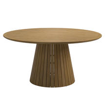 Whirl Slatted Buffed Teak 150cm Table