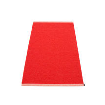 Mono 85 x 160cm Rug - Red / Coral Red