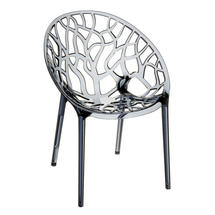 Leaf Stacking Chair - Smoke Grey Transparent