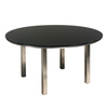 Space 150m Round Table - Charcoal Glass Top
