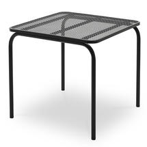 Mira 80 x 80cm Table - Anthracite Black
