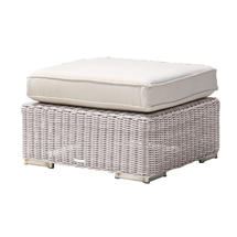Cuba/Valencia Ottoman with Cushion - Platinum