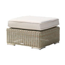 Cuba/Valencia Ottoman with Cushion - Sand