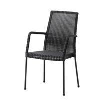 Newport armchair, stackable - Black