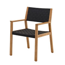 Maze Dining Chair with Arms - Noir Strap