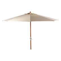 Aberdeen Parasol with Crank Handle - White