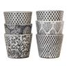 Set of 3 Vintage Pattened Plant Pots