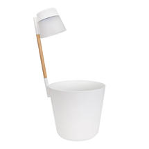 Table Planter with LED Light - White