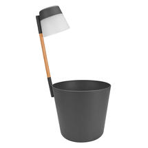 Table Planter with LED Light - Anthracite