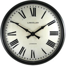 Black Cased Metal Wall Clock