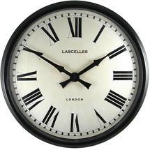 Black Cased Metal Wall Clock
