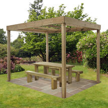 Contemporary Pergola without Panels