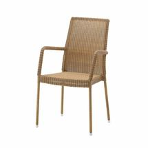 Newman armchair, stackable - Natural