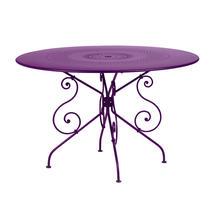 1900 Table 117cm - Aubergine