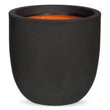 Texture Medium Egg Planter - Black