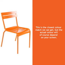 Luxembourg Stacking Chair - Carrot