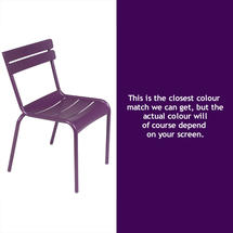 Luxembourg Stacking Chair - Aubergine