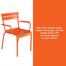 Luxembourg Stacking Armchair - Carrot