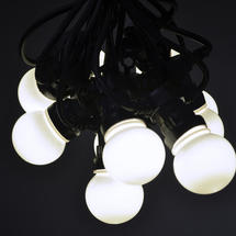 Outdoor LED Warm White Festoon Lights - 10m (20 bulbs)
