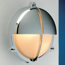 Large Bulkhead Split Shade - Chrome with External Fixing Legs