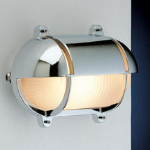 Large Oval Bulkhead with Shade - Chrome