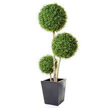3 Ball Faux Boxwood tree