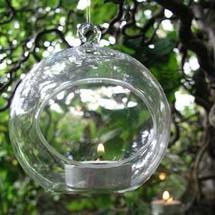 Glass Bauble Tea-Light Holder